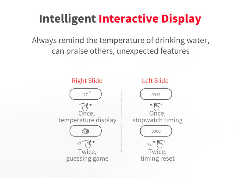 XIAOMI Mijia Kiss Kiss Fish Smart OLED Bottle with Screen Display Temperature Sensor Mini Water Bottle Thermos Cup Vacuum Insulation Bottle