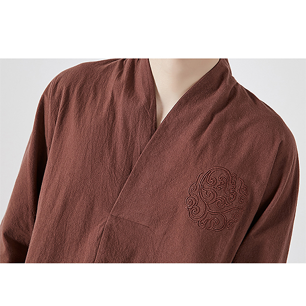 Chinese Style Embroidery V-Neck T-shirts