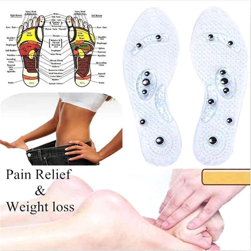 Reflexology Pain Relief Shoe Insoles Promote Blood Circulati