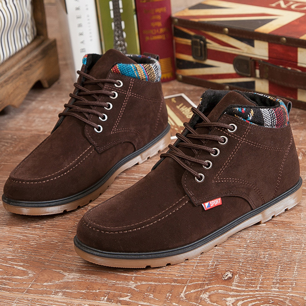 Men Comfortable Soft Sole Suede Warm Ankle Boots