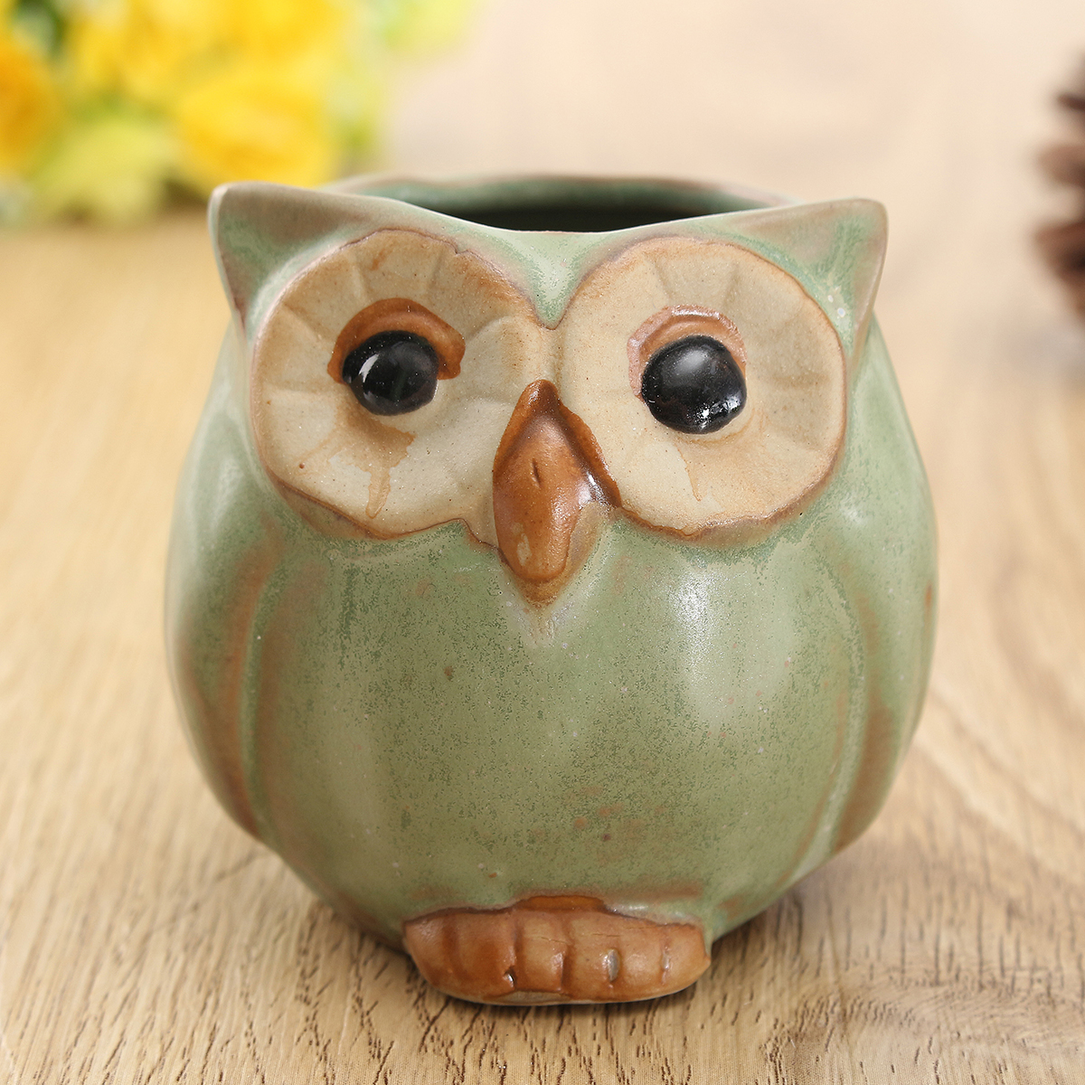 Garden Decorations Ceramic Owl Succulent Plants Flower Pot Mini Plant Planters