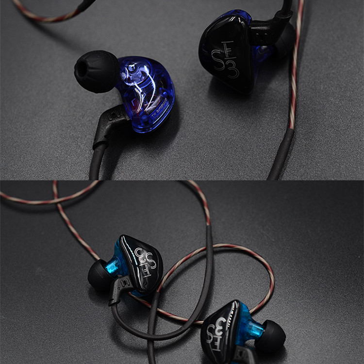 KZ ES3 HiFi 4 Drivers Balanced Armature Dynamic Driver Hybrid Earphone Headphone for iPhone Samsung