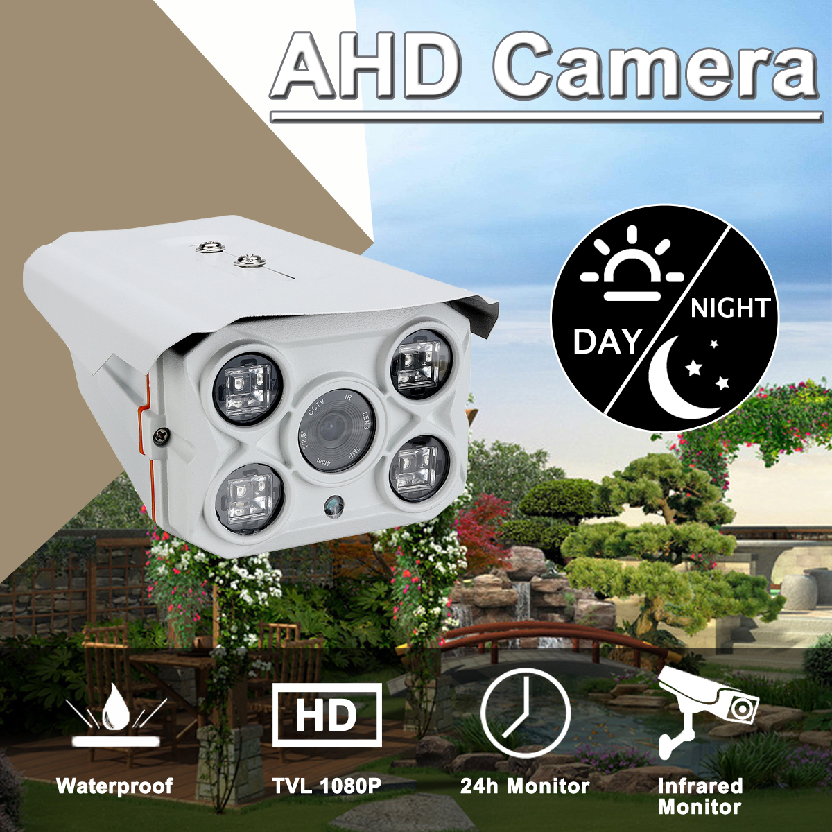 Saws AHD Coaxial Camera 1080P Infrared IP66 Waterproof Night Vision 24h Monitoring Camera