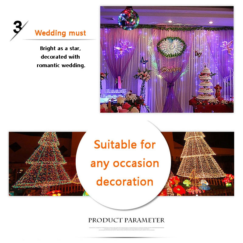 AC85-265V E27 G80 G95 G125 RGB LED Holiday Christmas Fairy Wire Light Bulb for Decoration