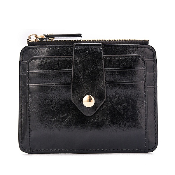 PU Leather RFID Daily Short Wallet For Men