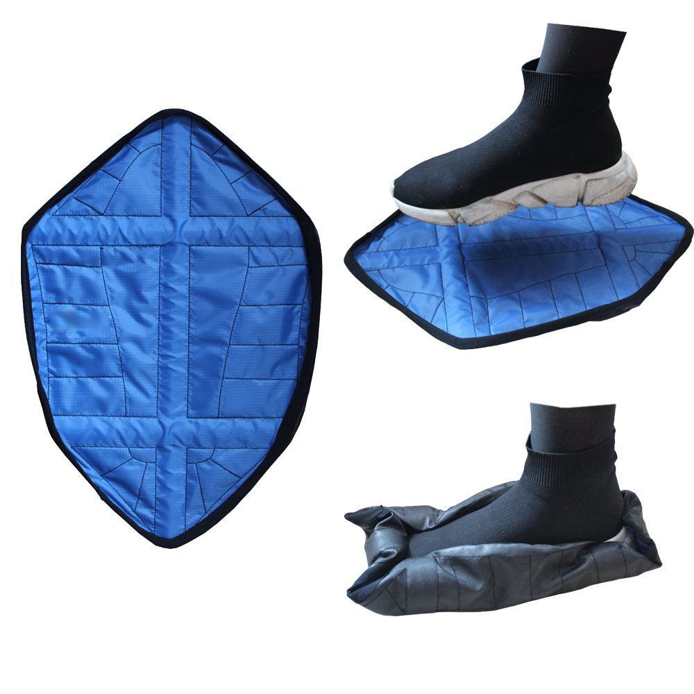 2Pcs Hands-Free Automatic Step Sock Shoe Cover Reusable One Step Portable Shoe Covers