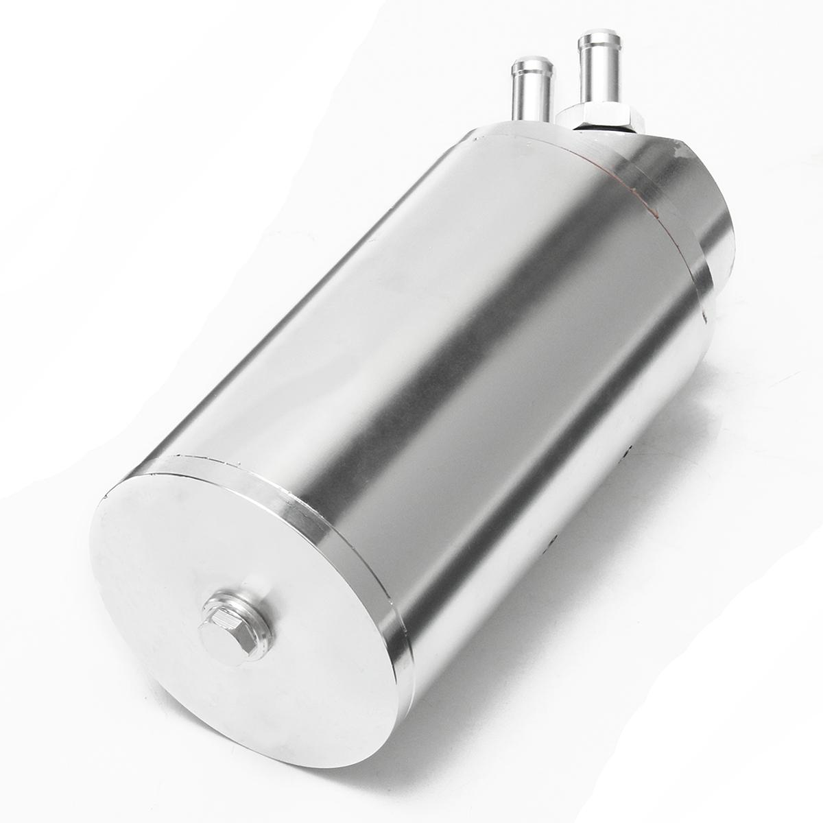 0.7L 10mm Aluminum Round Billet Aluminum Engine Oil Catch Tank Can Reservoir