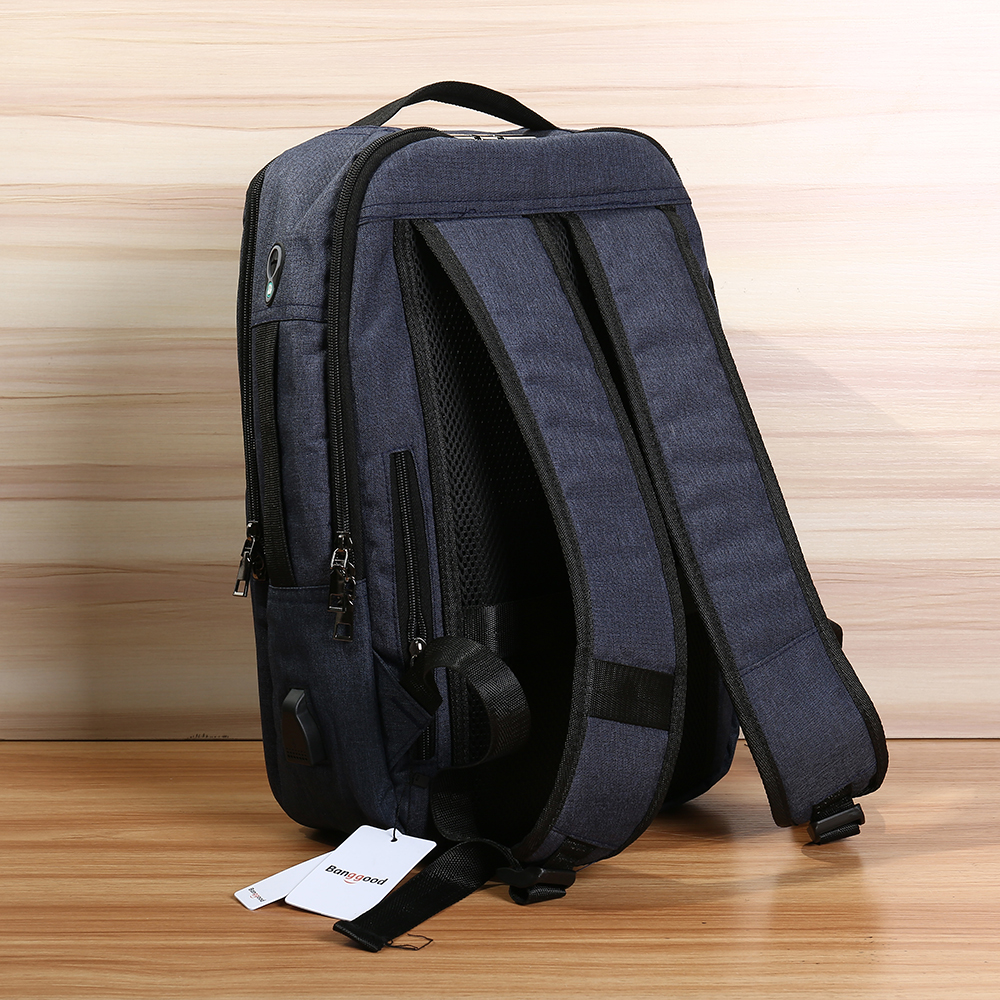Bang good 17L Anti-theft Men Women Laptop Notebook Backpack USB Charging Port Lock Travel School Bag
