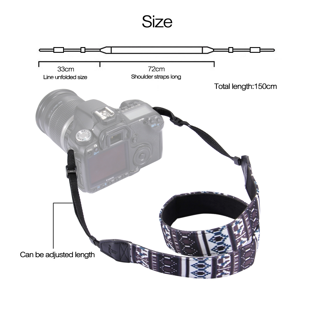 PULUZ PU6007A Retro Ethnic Style Multi-color Series Shoulder Neck Strap Camera Strap for SLR DSLR Ca