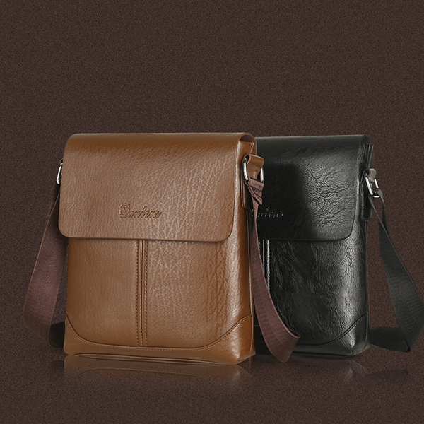 PU Leather Business Shoulder Bag Crossbody Bag Stylish Male Briefcase for Ipad Air