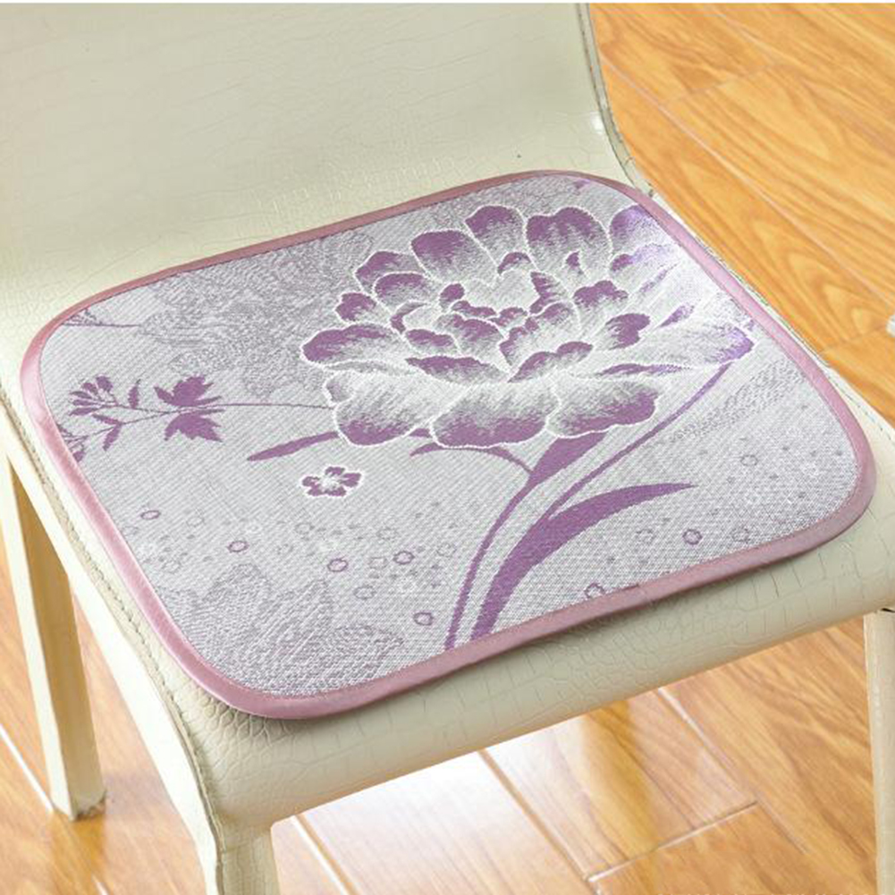 Summer Non-slip Ice Silk Chair Cooling Breathable Cushion Tatami Sofa Seat Cushion Health Mats