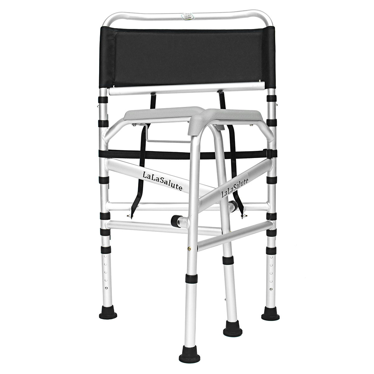 Aluminum Alloy Elders Patient Commode Chair Potty Chair Folding Anti-slip Toilet Bathroom Chair