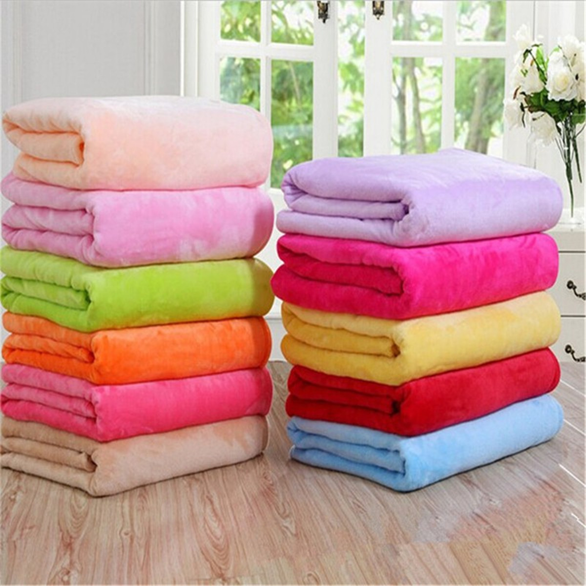 150x100cm Flannel Blanket Sofa Bed Soft Coral Fleece Bedding Article