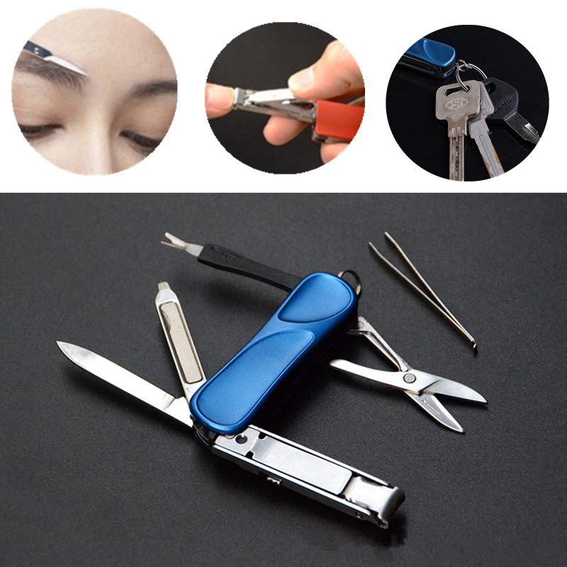 Multi-function Folding Knife Portable Outdoor EDC Tools Beauty Combination with Nail Clippers Kit