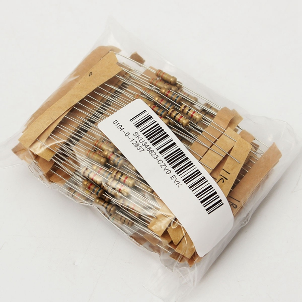 900pcs 30 Value 1ohm-3M 1/2W Carbon Film Resistor