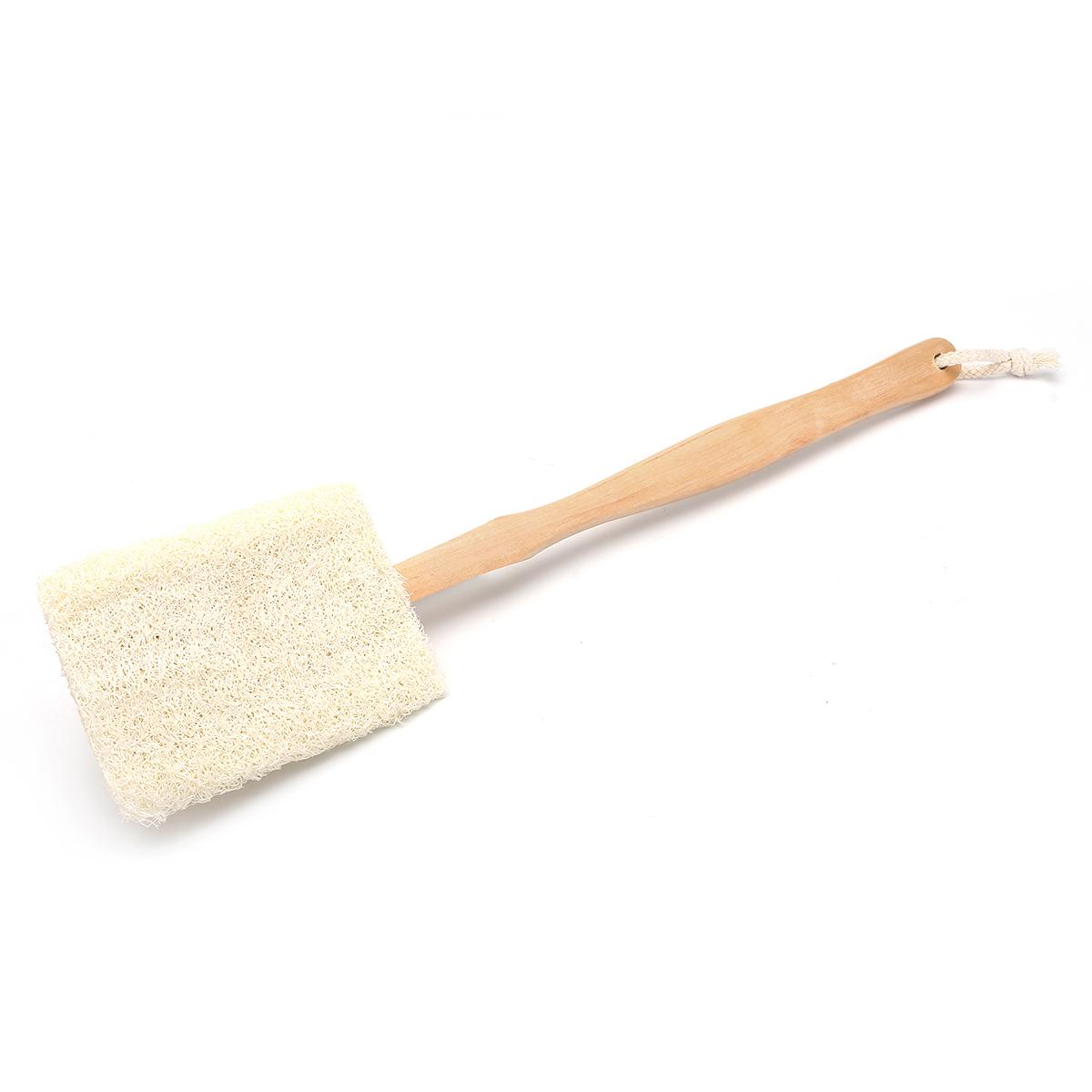 Natural luffa Loofah Bath Body Shower Spa Back Washing Scrubber Brush  Exfoliating Detachable Handle 37b03a4bdc11