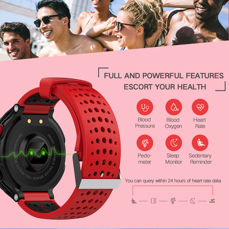X2 0.96inch Heart Rate Monitor Pedometer WaterProof Smart Bracelet For iphone Samsung Xiaomi Redmi