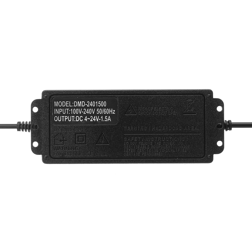 Excellway® 4-24V 1.5A 36W AC/DC Power Adapter Switching Power Supply Regulatedr Adapter Display