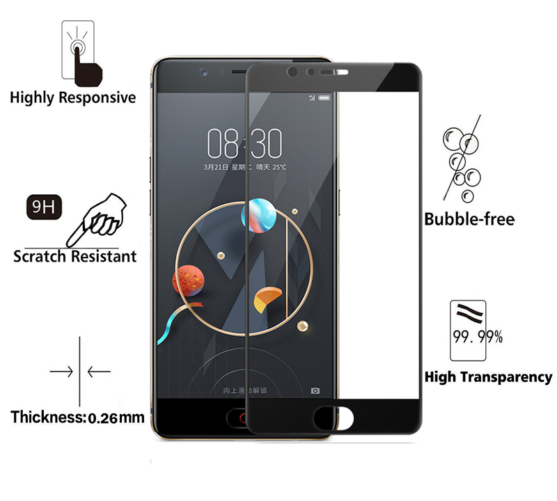 BAKEEY Anti-Explosion Full Cover Tempered Glass Screen Protector for Nubia M2 Lite Global ROM