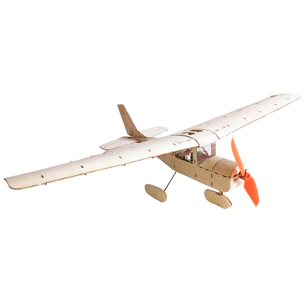 Mini Cessna 182 435mm Wingspan Balsa Wood Laser Cut RC Airplane KIT