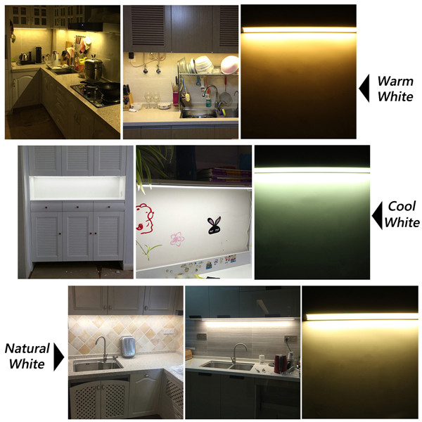 30cm LED Strip Cabinet Light Closet Night Lamp for Kitchen Cupboard Bathroom