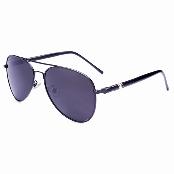 UV400 Polarized Lens Driving Sunglasses Goggles Metal Frame Glasses