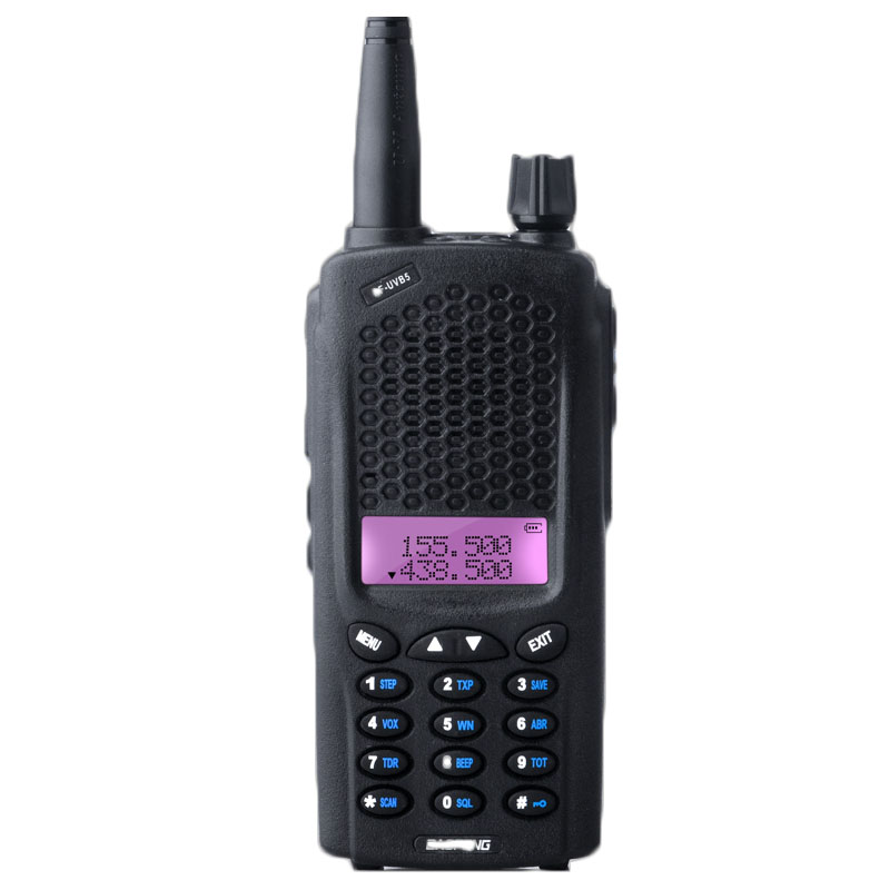 BAOFENG BF-UVB5 Plus 119 Channels UHF / VHF Dual Display Two Way Walkie Talkie Power Portable Ham Radio