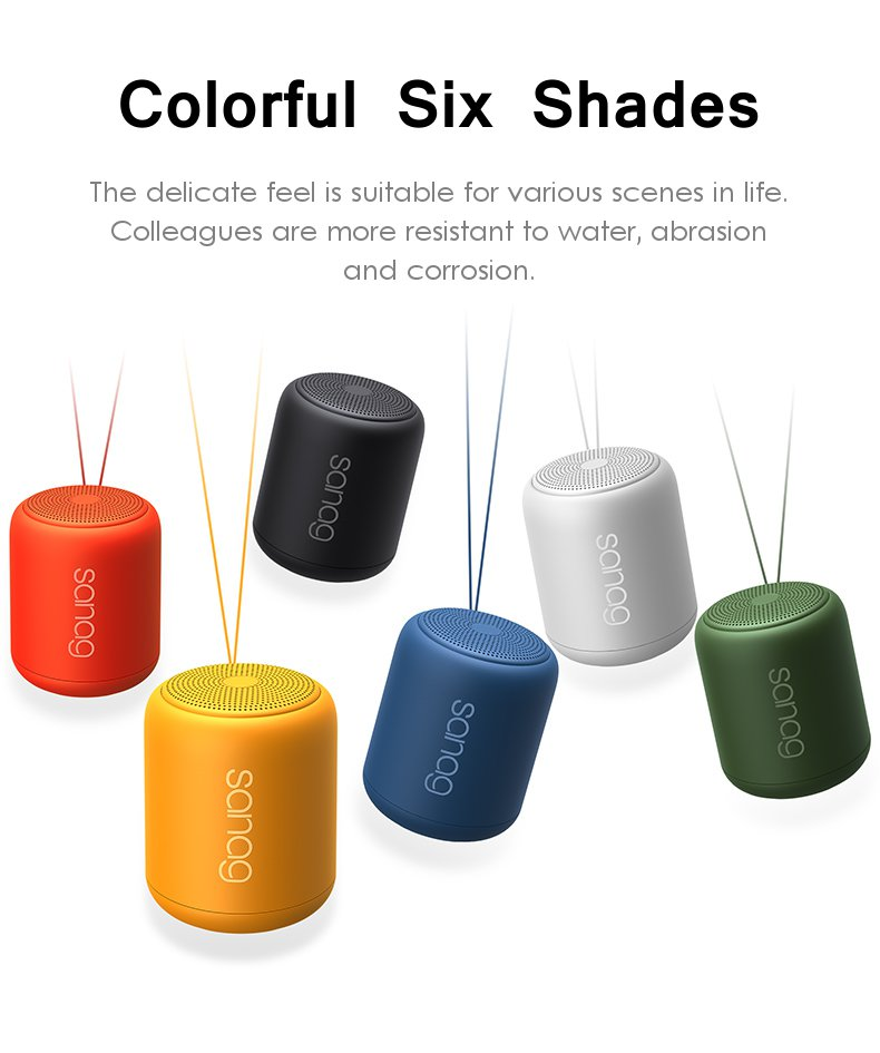Sanag X6 Portable Wireless bluetooth Speaker Stereo IPX5 Waterproof Sports Noise Cancelling Speakers