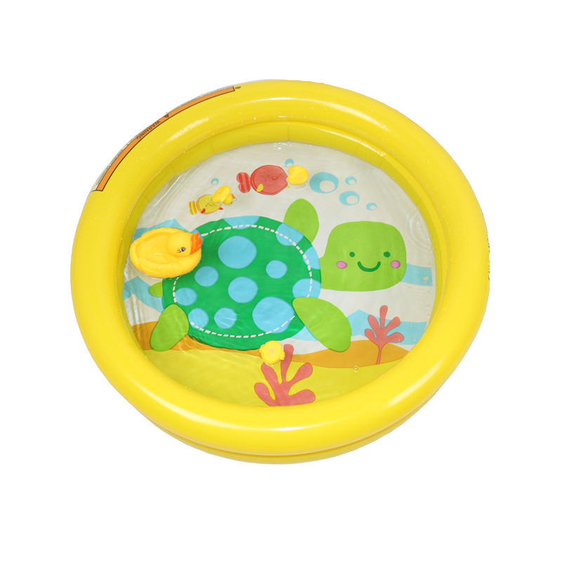 Inflatable Swimming Pool 61X15cm Baby Kids Summer Bath Tub Child Play Turtle Pool