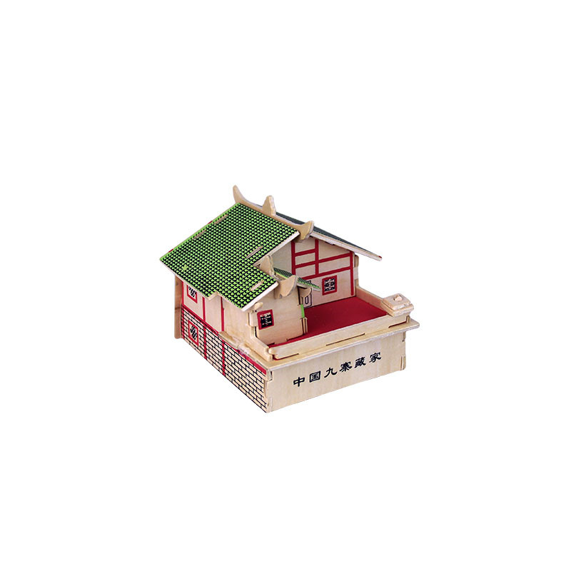 DIY Puzzle 3D Wooden Dimensional Animal House Model Learning Toys For Kids children Gift