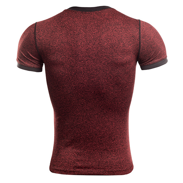 Men's Sports Fitness Gym Compression T-shirts Running Training Sweat Speed Dry Tight T-shirt