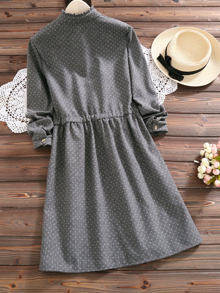 Mori Girl Polka Dots Dress