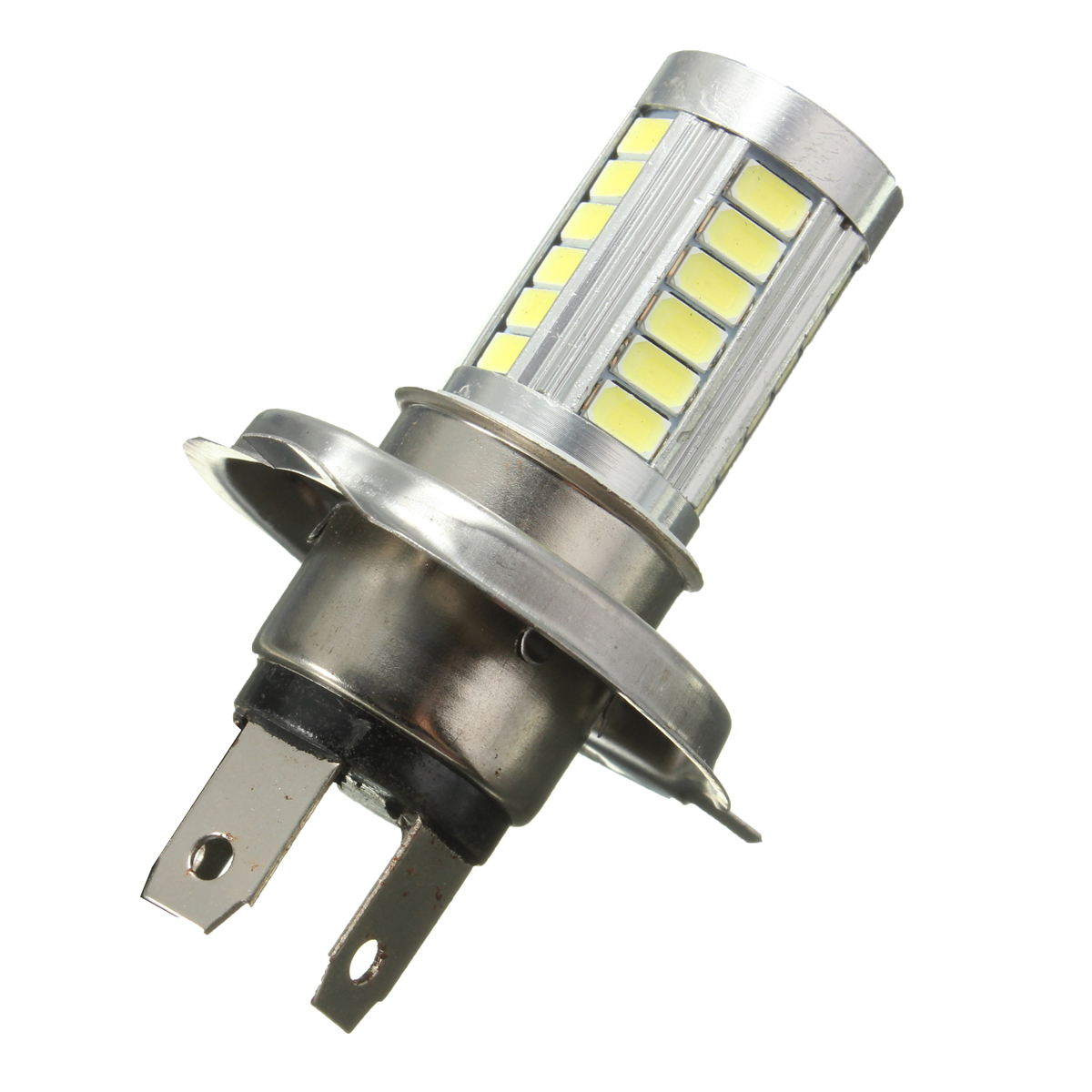 1pcs 10W 800LM 6000K White H4 5630 33SMD LED Car Headlights Driving Lamp Bulb