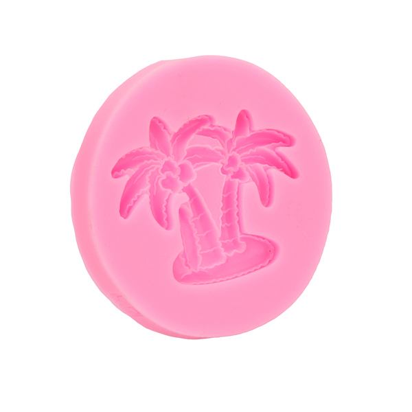 3D Coconut Palm Silicone Mold Fondant Mould Creative Baking Tools Accessories