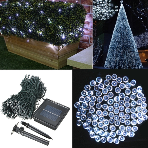 300 LED Solar Powered Fairy String Light Garden Party Decor Xmas