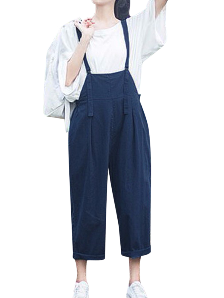 Women Casual Strap Sleeveless Long Pants Jumpsuits