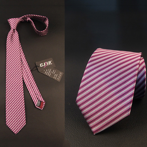 Men Striped Business Suit Jacquard Neckties Wedding Party Formal Ties