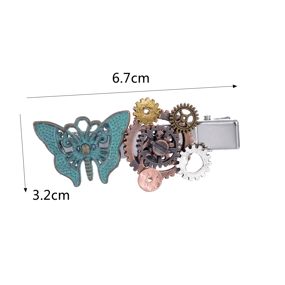 Punk Vintage Steampunk Gear Butterfly Women's Hair Clip