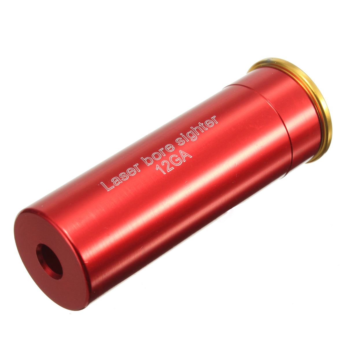 12GA Red Dots Gauge Cartridge Boresighter Shot Bore Sight Scope Airsoft Hunting Copper Tool