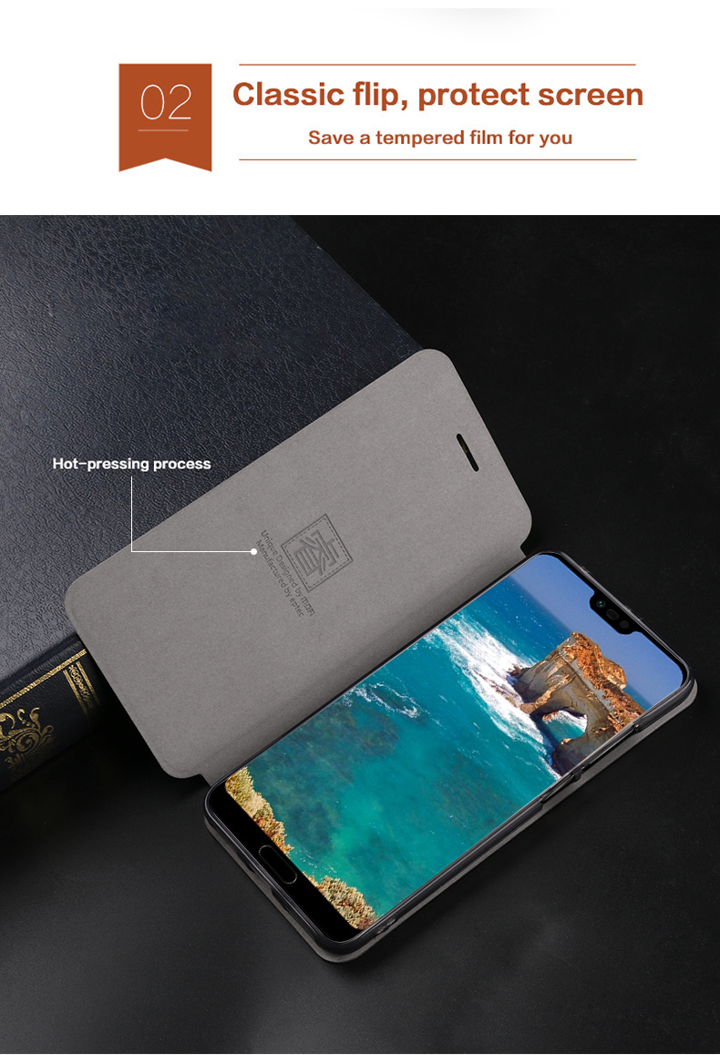 MOFI Flip Classic PU Leather Full Body Protective With Stand Protective Case For Huawei Honor 10