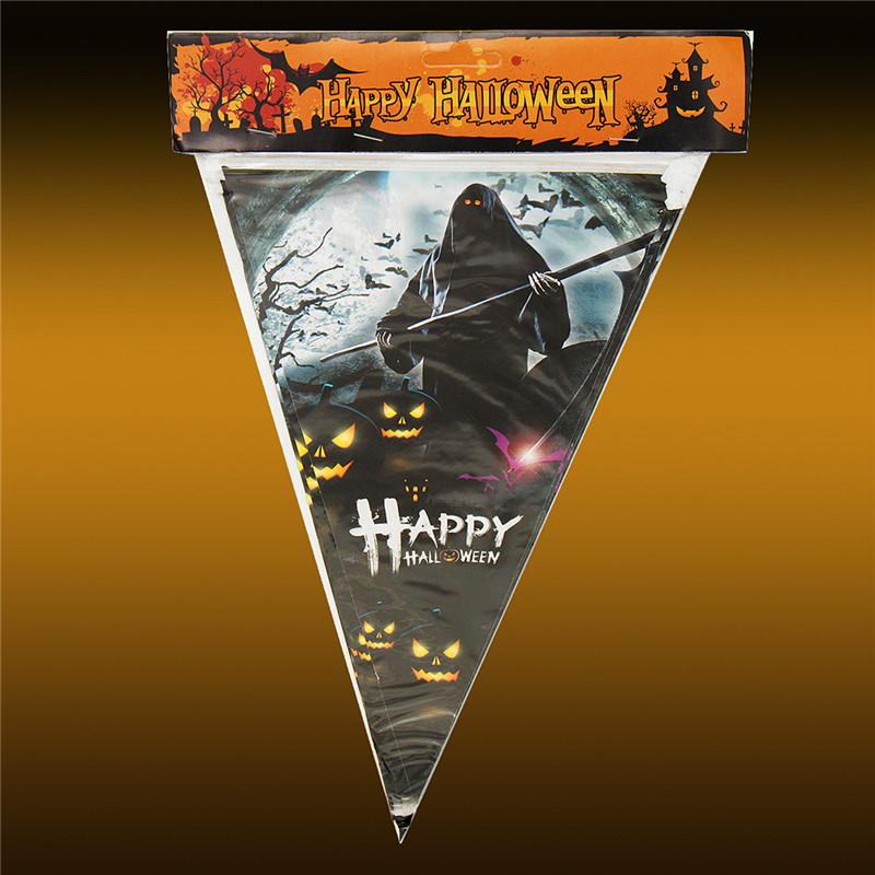 Halloween Party House Decoration Triangle Flag String Bar Scene Horror Props Toys