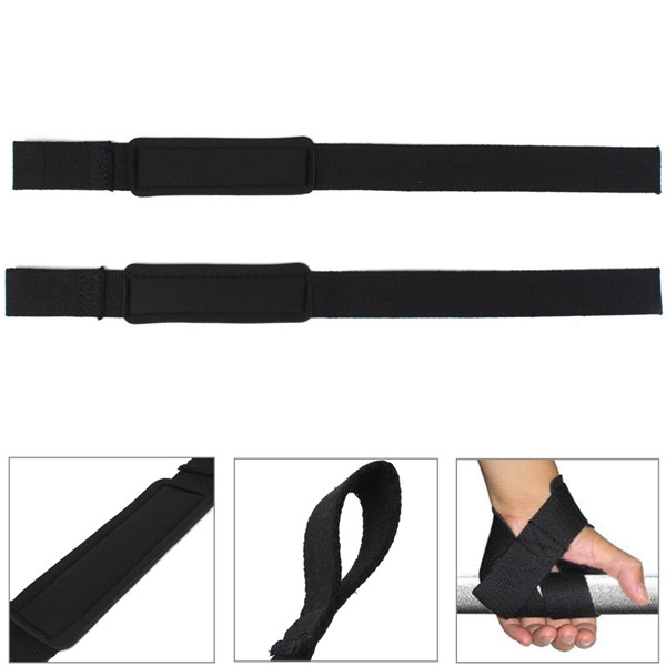 Cotton Weight Lifting Hand Wrist Support Gym Straps Brace Protection Black