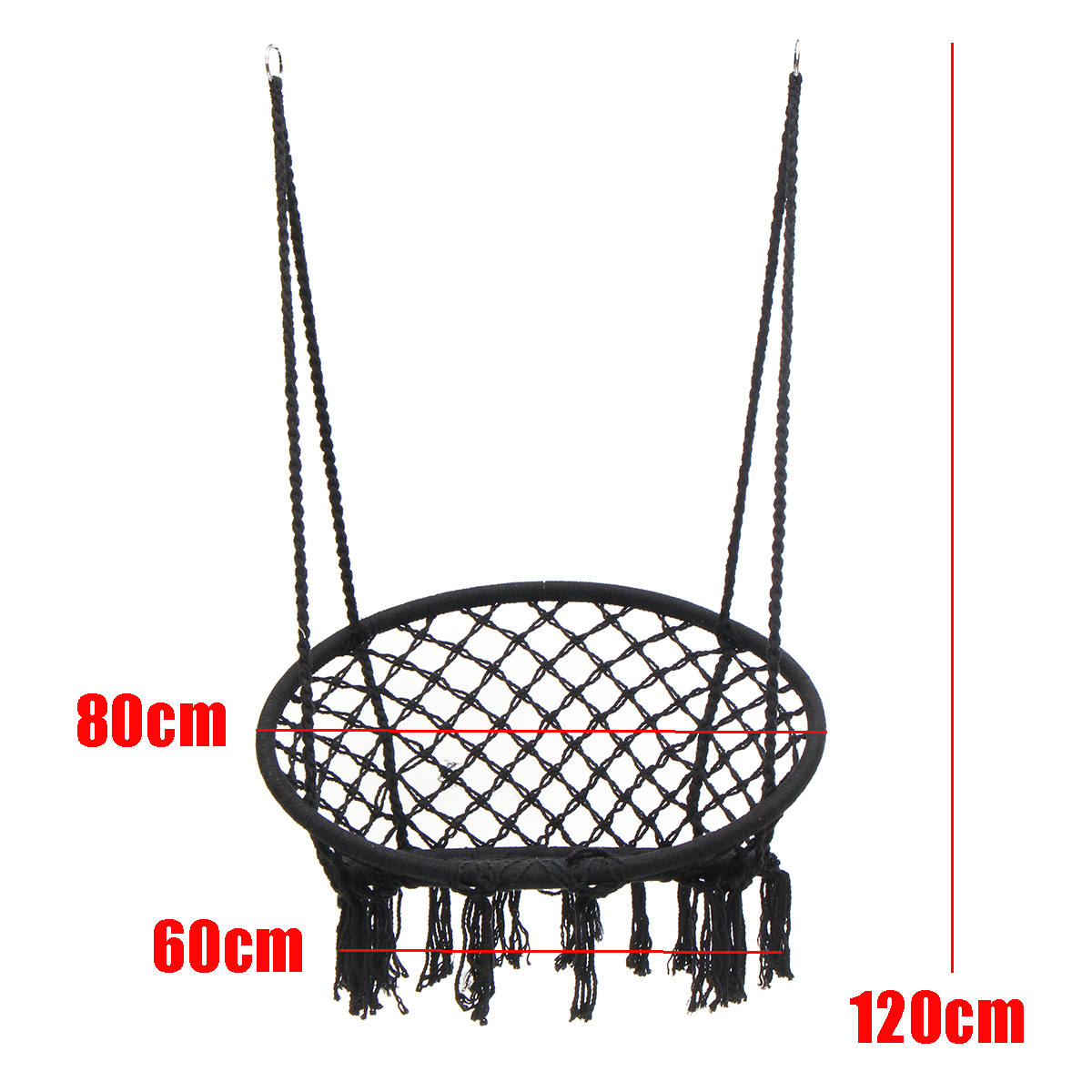 Round Hammock Adult Outdoor Indoor Dormitory Bedroom Swing Bed Hanging Single Chair with Tools Set