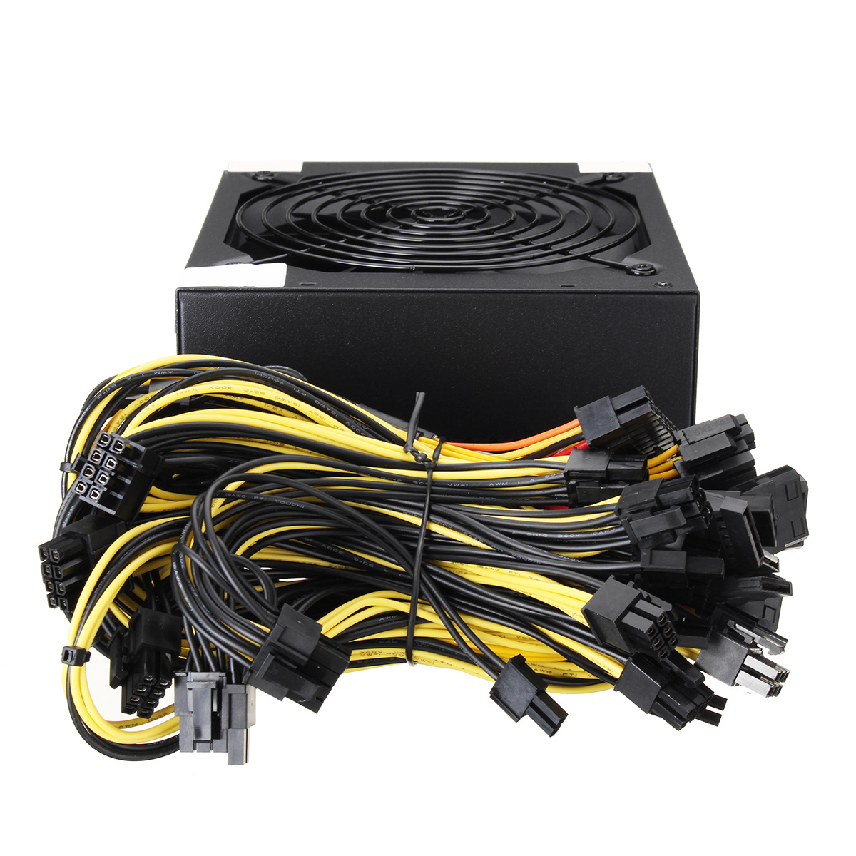 1800W Power Supply 91% For 6GPU Eth LTC Rig Ethereum Coin Mining Miner Dedicated
