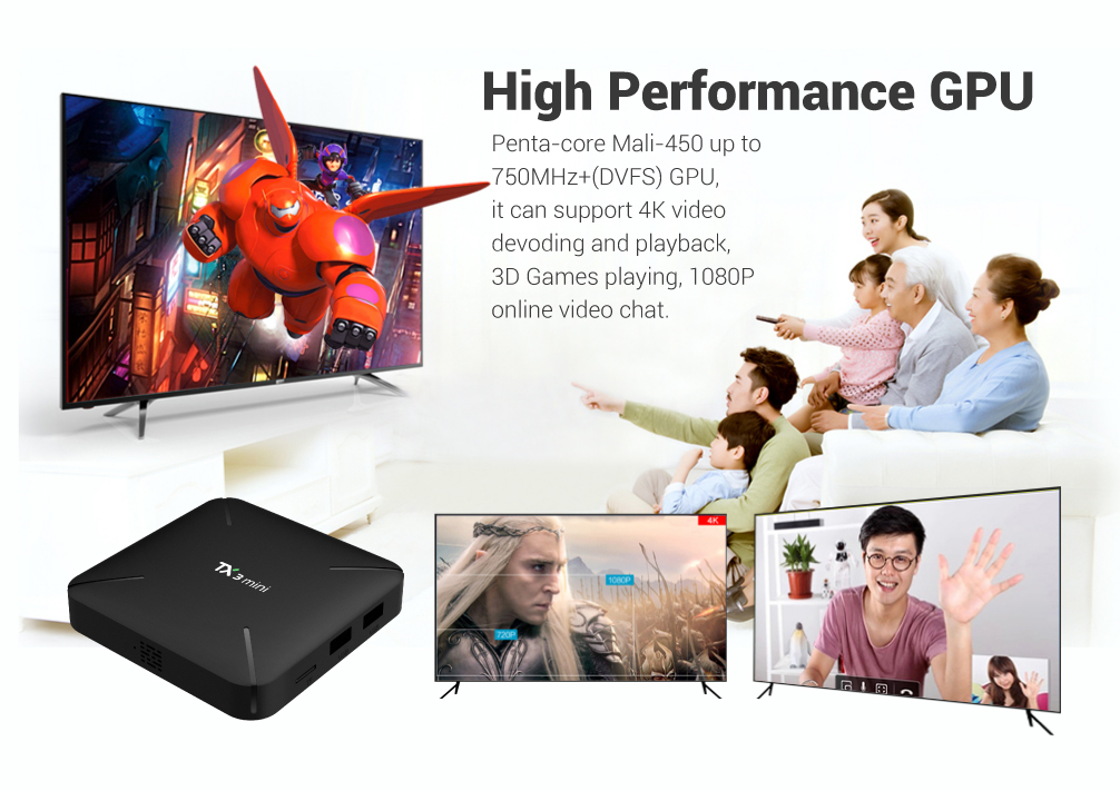 Tanix TX3 MINI H Amlogic S905W 2GB RAM 16GB ROM Android 7.1 TV Box