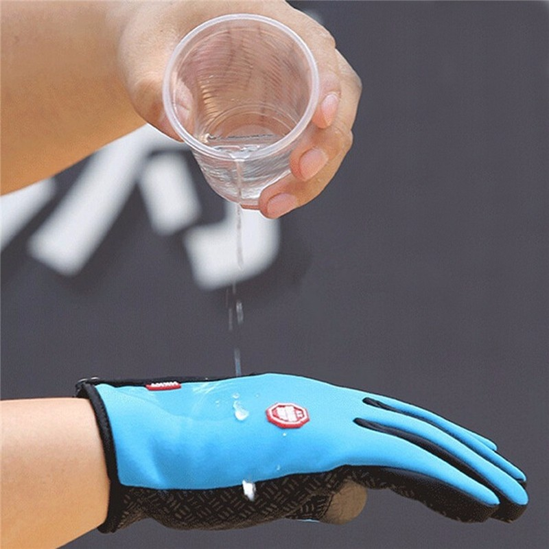 Unisex Polyester Full Finger Gloves Screen Touch Waterproof Ski Driving Outdoor Antiskid Mittens