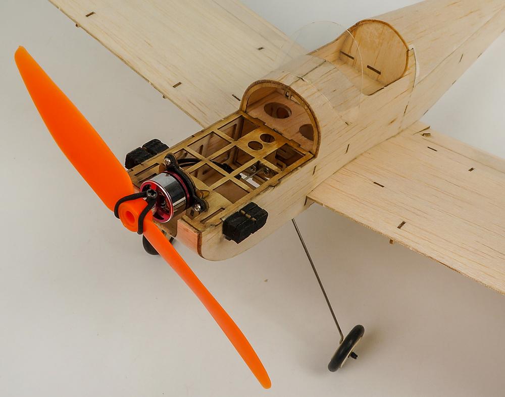 Mini Balsa Wood RC Airplane Model K9 Spacewalker Indoor/Park Fly 380mm Wingspan Aircraft Model Kits - Photo: 9