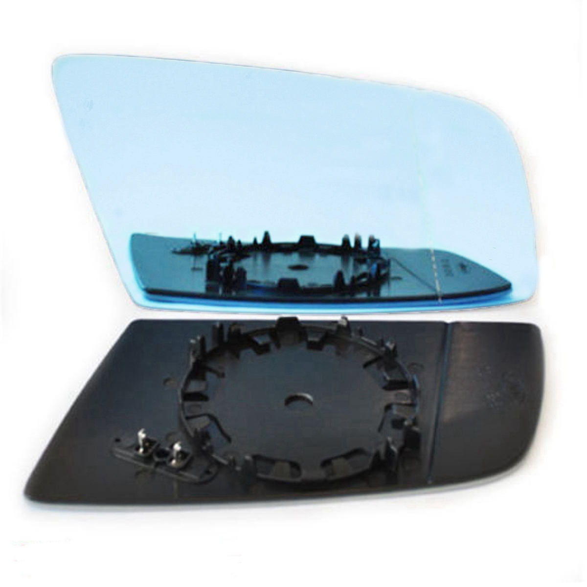 Right Side Blue Car Heated Side Mirror Glass For BMW 5 E60 E63 2004-2008