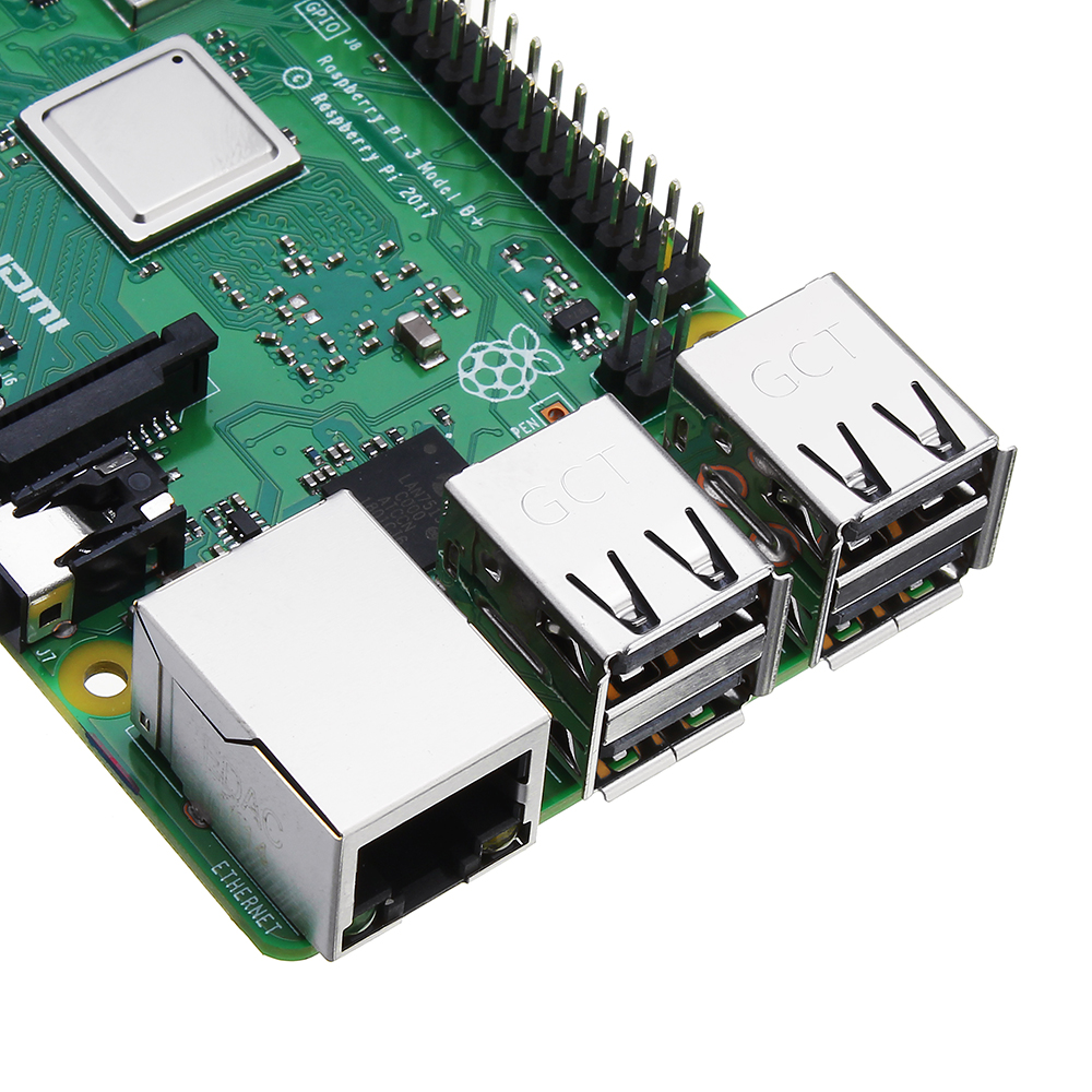 Raspberry Pi 3 Model B+ (Plus) Mother Board Mainboard With BCM2837B0 Cortex-A53 (ARMv8) 1.4GHz CPU Dual-Band Wireless LAN w/ 1GB RAM