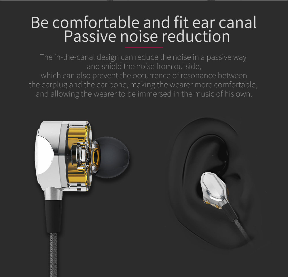 【Dual Dynamic Drivers】S.Wear G2 In-ear 3.5mm Wired Control Earphone Headphone With Mic